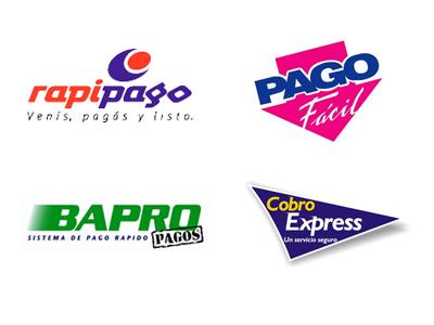 Rapipago, Pago Fácil, Bapro Pagos, Cobro Express