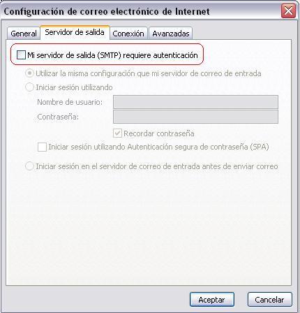 """Tildar """"Mi servidor requiere autenticación"""""""